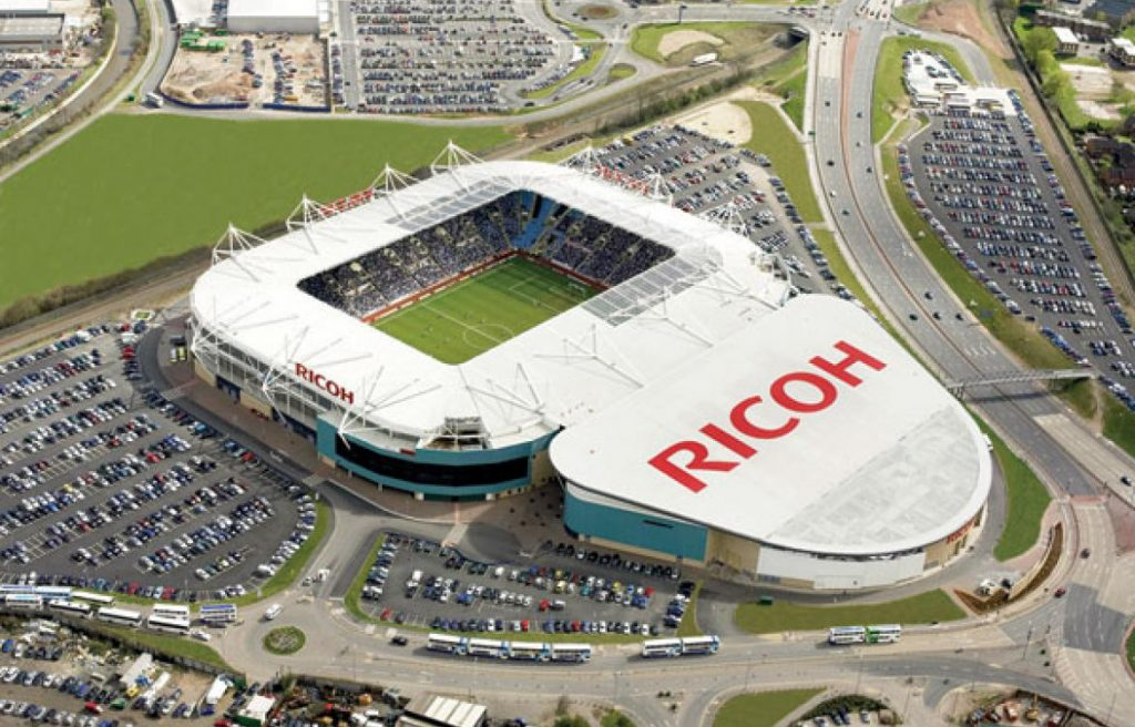 ricoh arena from above
